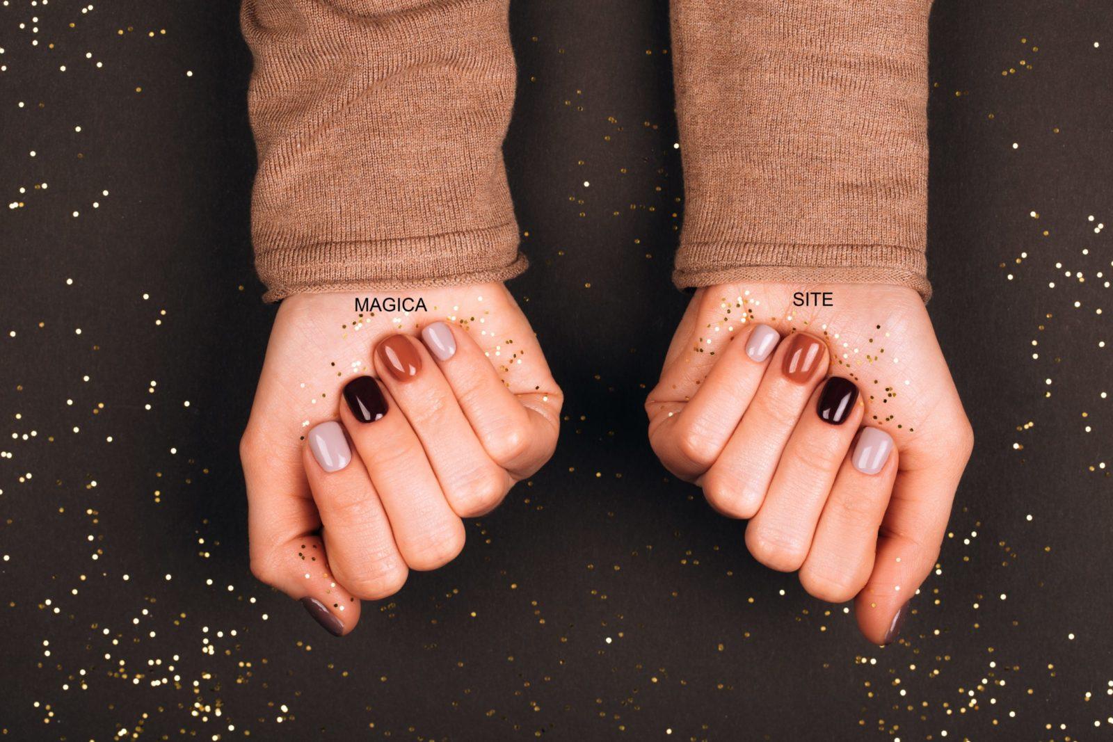 осенний маникюр, маникюр 2020, комбинированный маникюр, бежевый свитер, бежевые ногти, дизайн ногтей