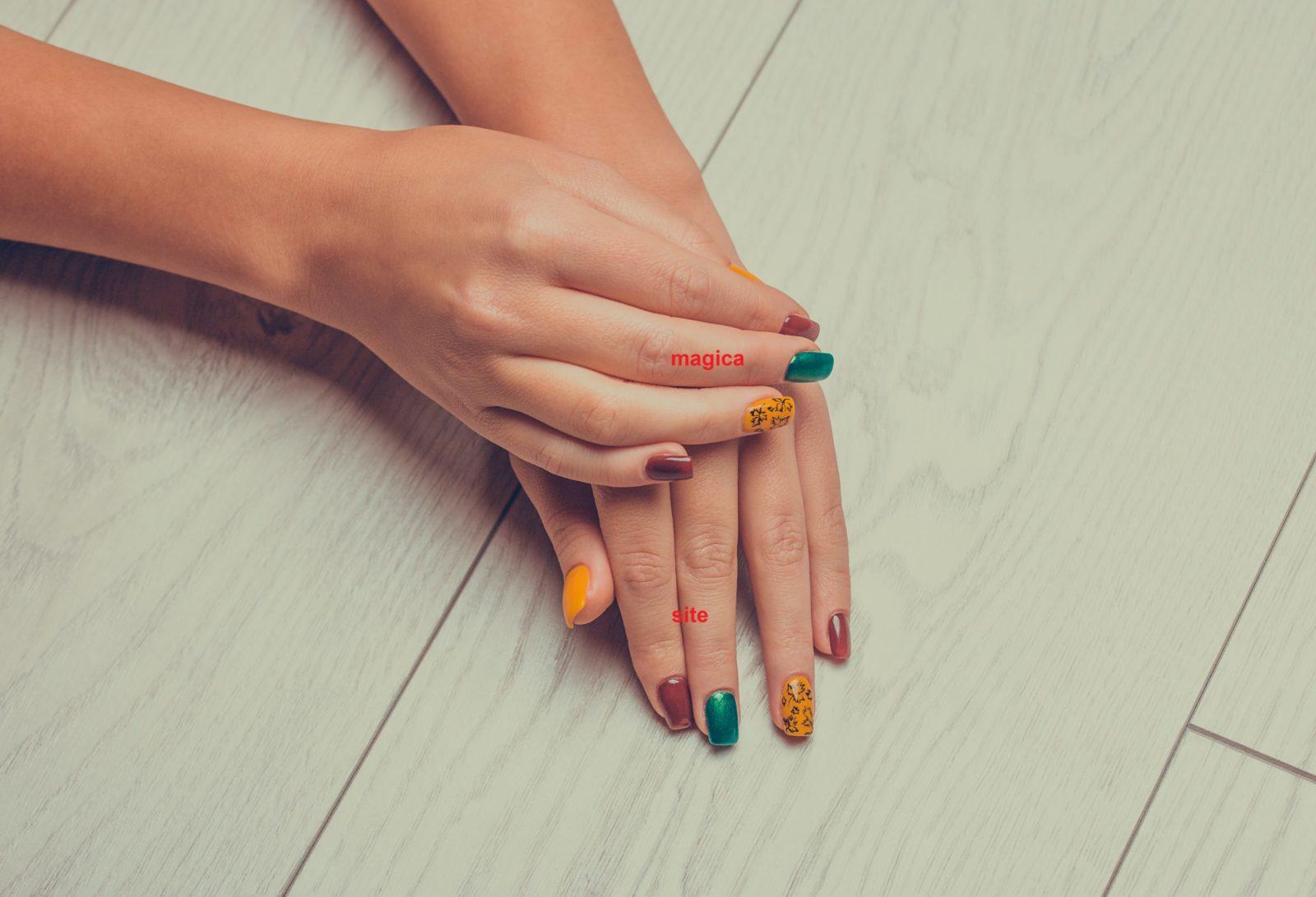 осенний маникюр, ногтевой дизайн, картинки на ногтях, маникюр с рисунками, комбинированный маникюр, разноцветные ногти, жёлтые ногти, зелёные ногти, листья на ногтях, ногтевой дизайн