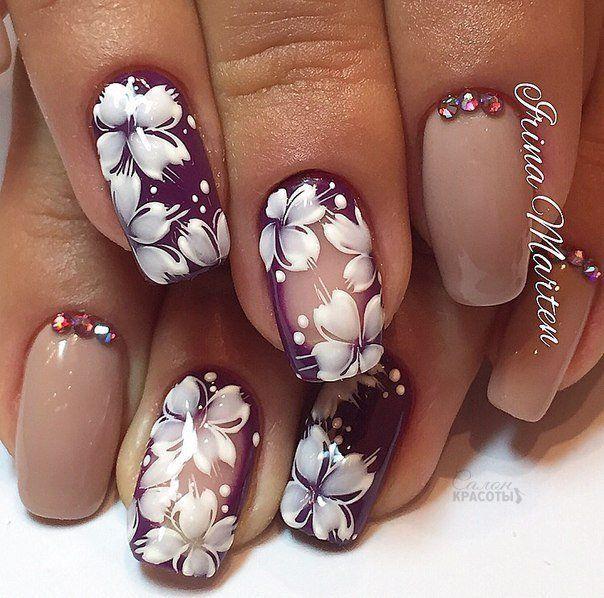 цветочный маникюр, рисунки на ногтях, картинки на ногтях, роспись ногтей, яркий маникюр, праздничный маникюр, маникюр с рисунком, модный маникюр, стильный маникюр, маникюр на короткие ногти, квадратные ногти