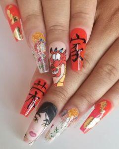 рисунки на ногтях, маникюр с рисунком, картинки на ногти, мультяшки на ногтях, самый модный маникюр 2021, ногтевой дизайн, оригинальный маникюр