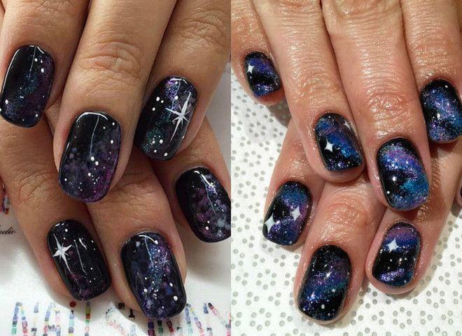 галактический маникюр, галактики на ногтях, галактический дизайн ногтей, самый модный маникюр, модный маникюр 2021, кошачий глаз маникюр, планеты на ногтях, созвездия на ногтях