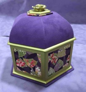 шкатулка своими руками, катронаж шкатулка, шкатулка для колье, сиреневая коробочка, сиреневый катронаж, фиолетовая коробочка, фиолетовая шкатулка, катронаж примеры