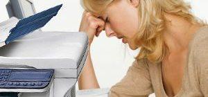 женщина, принтер, принтер сломался
